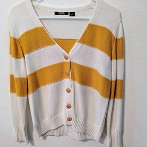 Vintage Yellow Stripe Cardigan